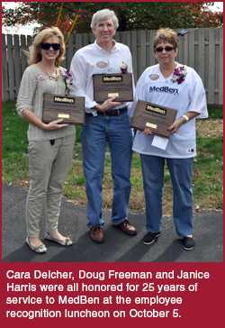 Cara Delcher, Doug Freeman and Janice Harris