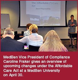 MedBen VP Caroline Fraker at MBU