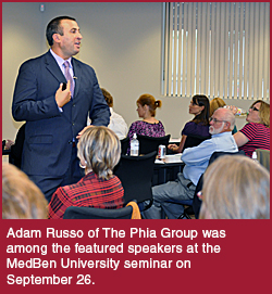 Phia Group CEO Adam Russo speaks at MedBen University
