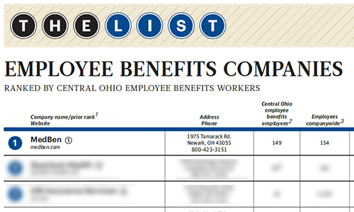 Largest Central Ohio Employee Benefits Companies