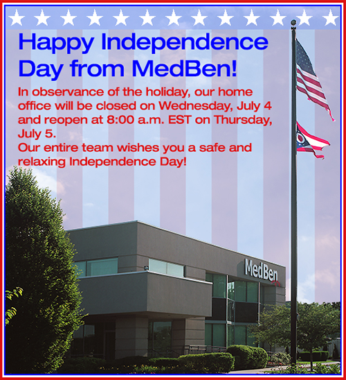 MedBen closed July 4, reopens July 5