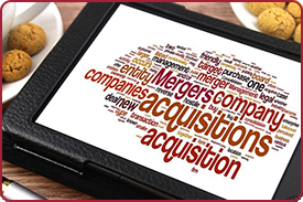 mergers and acquisitions word collage